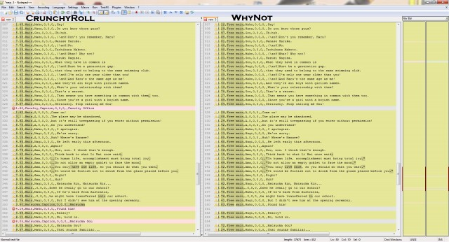 "Script comparison example (changes highlighted, may require you to click the image to zoom in to see the ""differences"")"