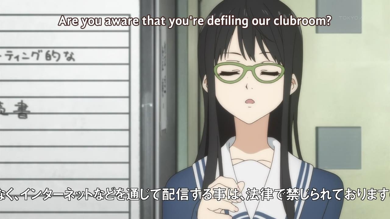 Fansub Review: [UTW] Kyoukai no Kanata (Episode 03)