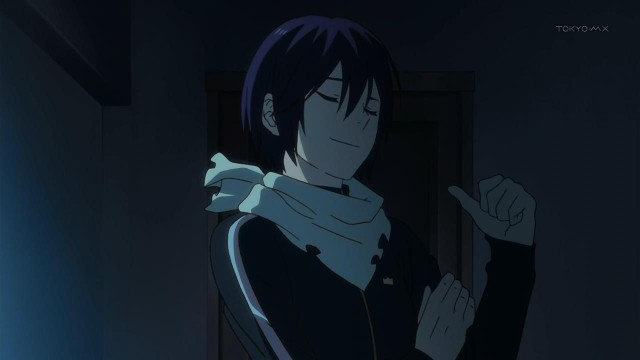 Noragami hehehe he's so full of himself