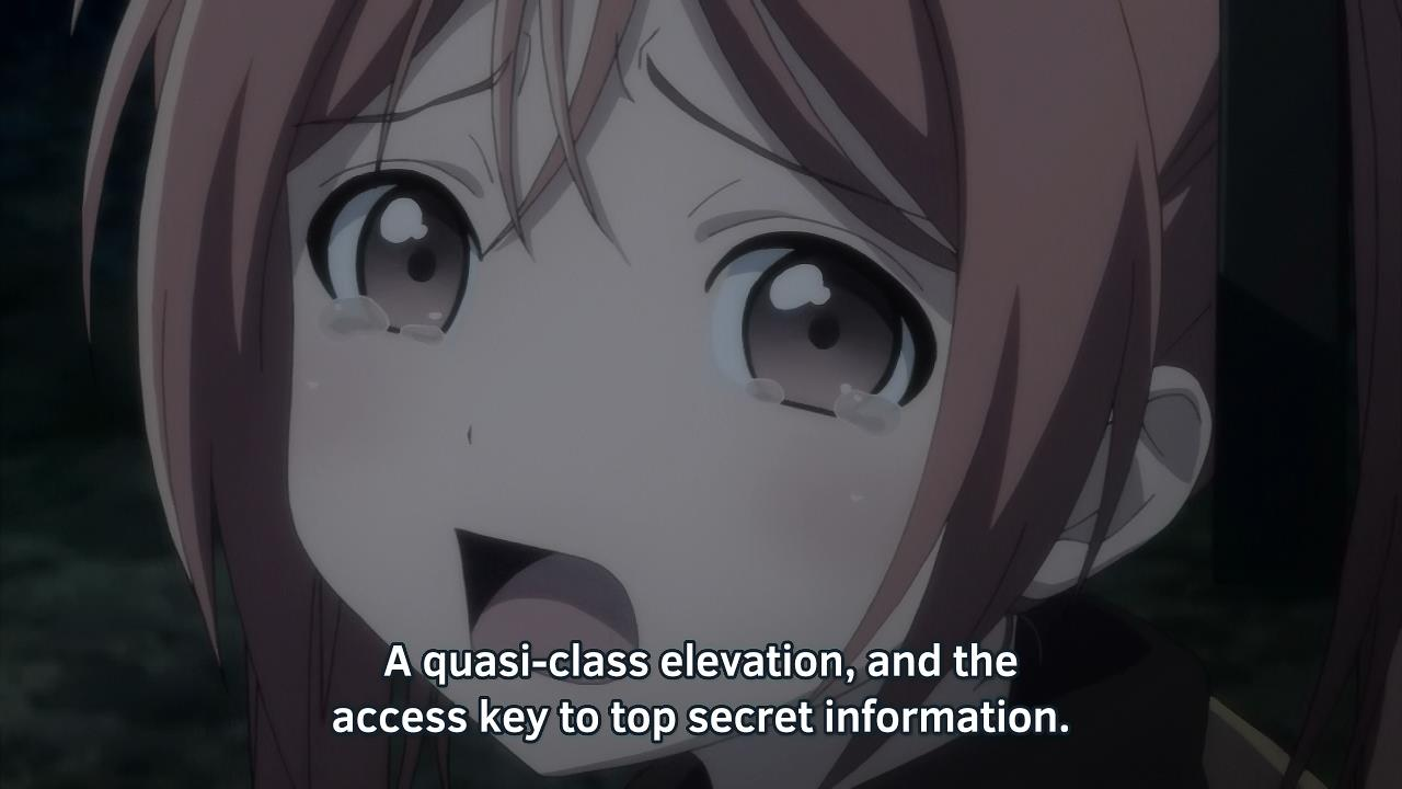Fansub Review: [Underwater] Black Bullet (Episode 04)