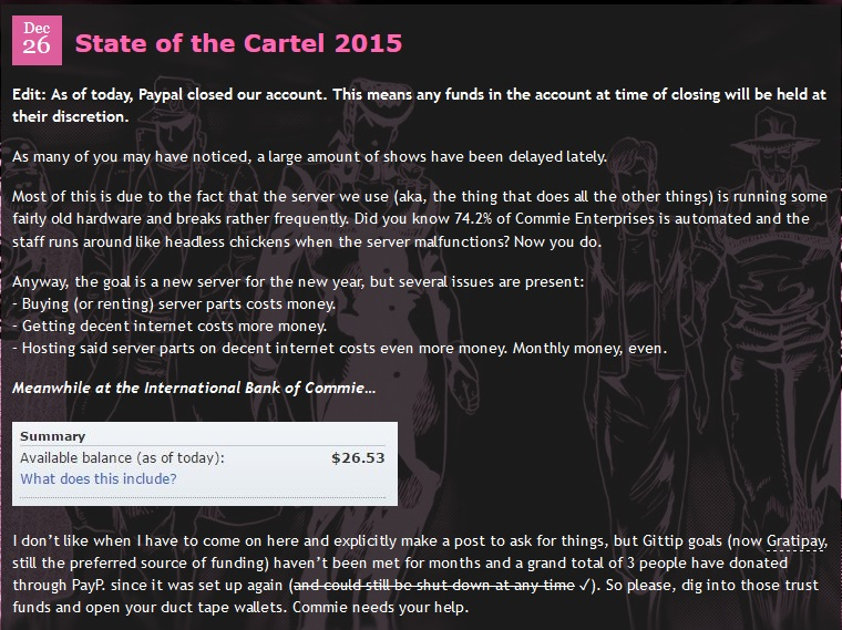 State of the Cartel 2015